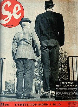 Carl Schenstrøm - Fy og Bi in the magazine Se, 1947