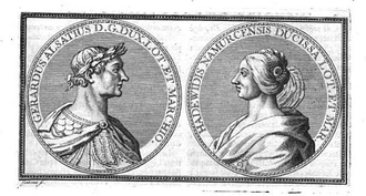 Gerard, Duke of Lorraine - Gérard of Lorraine, and his wife Hedwige