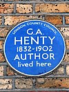 G.A. HENTY 1832-1902 AUTHOR lived here.jpg