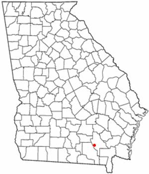 Manor, Georgia - Location of Manor, Georgia