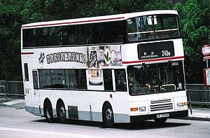 Scania N113 - Kowloon Motor Bus 3-axle Scania N113 in November 2005