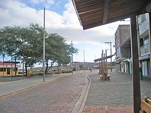San Cristóbal Island - Main Street of Puerto Baquerizo Moreno.