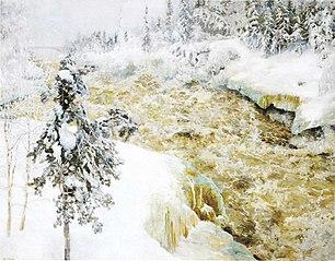 Imatra Falls in Snow