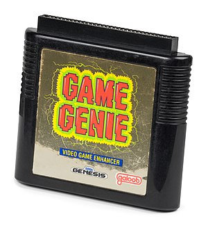 Cheat cartridge - Game Genie cartridge for the Mega Drive/Genesis.