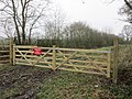 Gate across Featherbed Lane (geograph 5265609).jpg