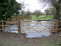 Gate by the River Ebble - geograph.org.uk - 1144994.jpg
