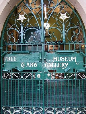Blackburn Museum and Art Gallery - The original gate to the building