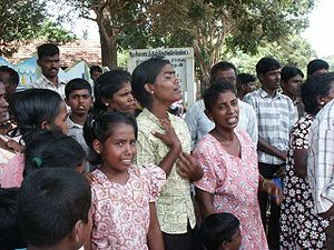 Sorrowful Tamil refugees on Sri Lanka, Septemb...