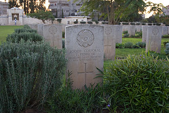 Highland Light Infantry - Gravestones of HLI soldiers who died in the First World War in the Commonwealth War Graves Commission Cemetery in Gaza City