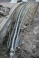 Geöpend ondergrond kabeltracé op bolle brug.jpg