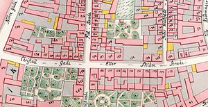 Krystalgade - Skidenstræde  seen on Gedde's district map