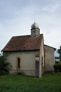 Gelucourt remains of the Knights Templar's chapel.JPG