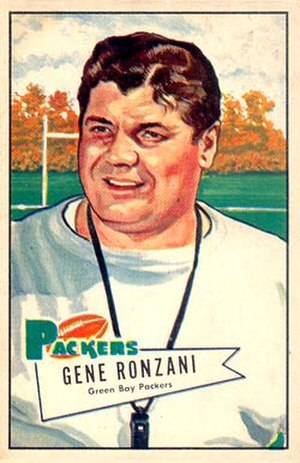 Gene Ronzani - Bowman football card, 1952