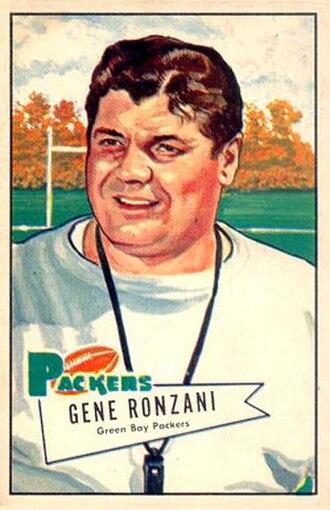 Gene Ronzani - Bowman football card, 1952