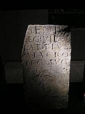 Votivaltar für den genius der legio vii gemina museo de león 1