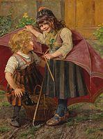 Georg Rössler Der Regenschirm 1899.jpg