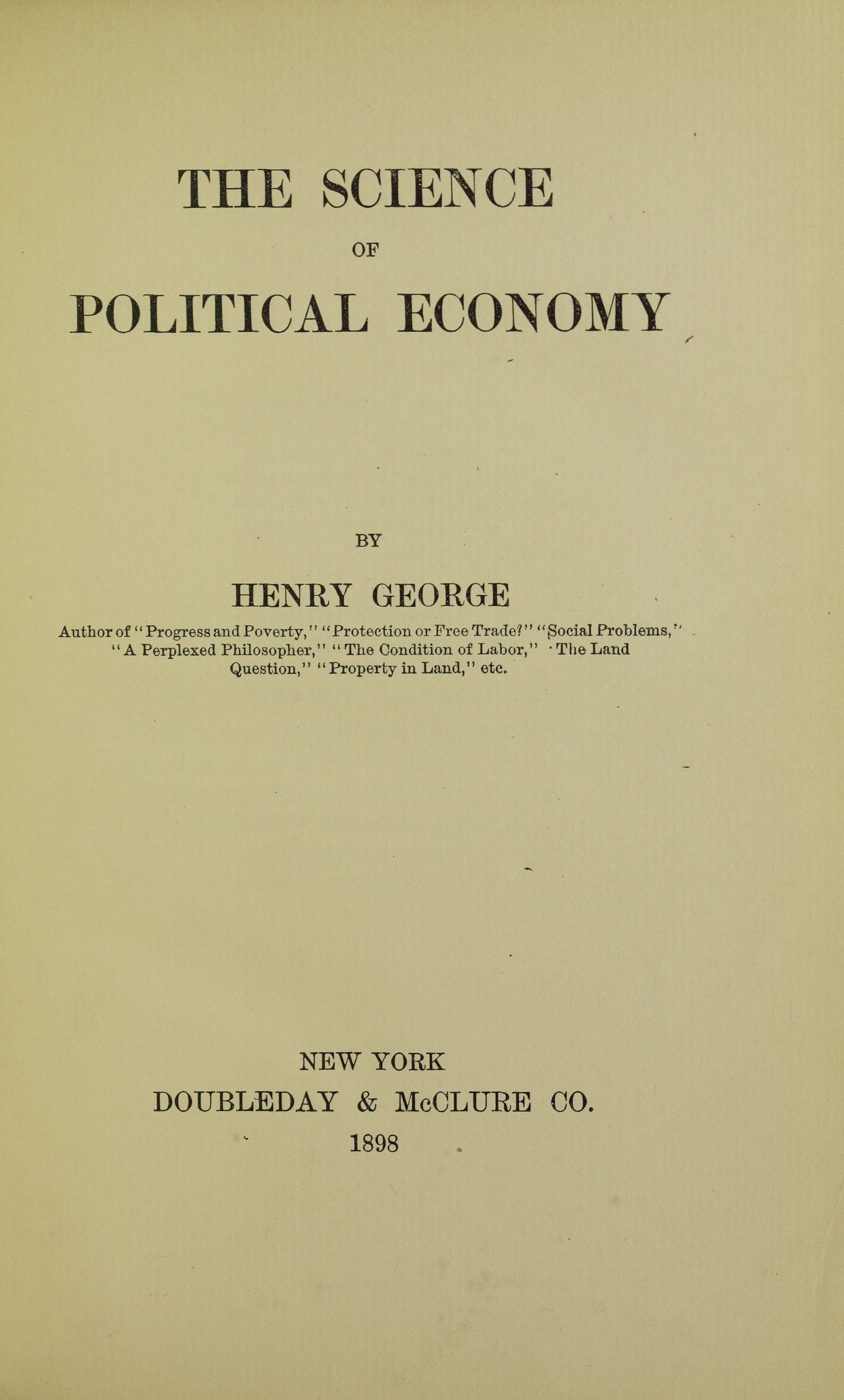 ファイル:George - Science of political economy, 1898