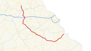 Georgia State Route 80 - Image: Georgia state route 80 map