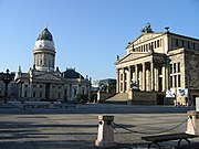 German Cathedral and Concert Hall at Gendarmenmarkt square.