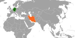 Karte mit Standorten in Deutschland und im Iran