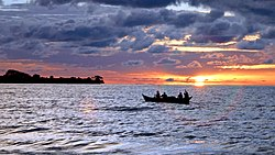 Getting out to fish at dusk.jpg