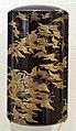 Giappone, inroo in lacca, periodo edo, 22 aironi.jpg