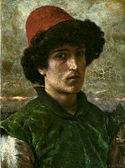 Portrait of a young Italian.