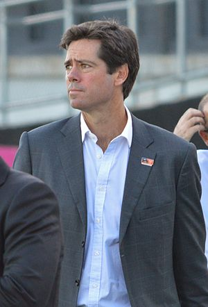 Gillon McLachlan - McLachlan pictured during the inaugural AFL Women's match in February 2017
