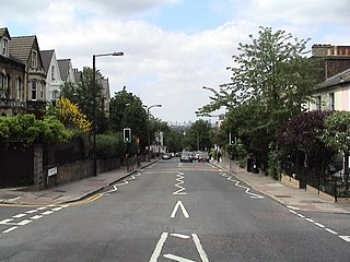 Gipsy Hill road in Lambeth, London