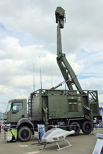 Estonian Air Force - A  Giraffe AMB radar on display at the Paris Air Show 2007