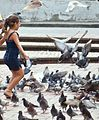 Girl with feral pigeons in Cali, Colombia-22Oct2009.jpg