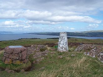 Great Cumbrae - OS Triangulation Pillar at the island's highest point