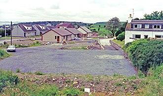 Glenluce railway station - Glenluce station grounds in 1996.