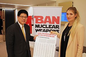 Treaty on the Prohibition of Nuclear Weapons - A global appeal for a nuclear-weapon-ban treaty, signed by 838 parliamentarians in 42 countries.