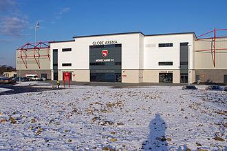 Globe Arena (football stadium) - Peter McGuigan Stand