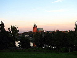 Gniezno. Landscape.View of cathedral and Franciscan church.JPG