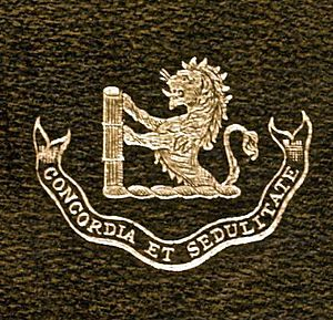 Goldsmid family - The Goldsmid family crest, with motto Concordia et sedulitate
