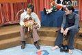 Gordon Thompson and Nina Keogh on the set of Polka Dot Door (1971).jpg