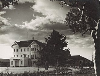 Government House, Canberra - Government House as viewed from the right side in 1927.