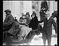 Grace Coolidge in sleigh outside White House, Washington, D.C. LCCN2016889195.jpg