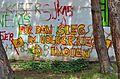 Graffiti Volkskrieg in Indien, Ernestine-Diwisch-Park.jpg