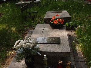 Wirgiliusz Gryń - Grave of Wirgiliusz Gryń at the Doły Cemetery in Łódź