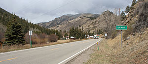 Grant, Colorado - Approaching Grant from the east on U.S. Highway 285.