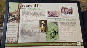 Forest City, Utah - Information Sign at Graveyard Flat