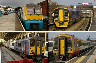 St Andrews Road railway station - Four bidders pre-qualified for the 2013– Greater Western passenger franchise: clockwise from top left, Arriva, FirstGroup, Stagecoach Group and National Express