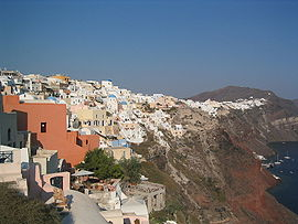 Santorini Oia coast by day
