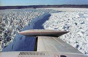 Jakobshavn Glacier - The calving front of the glacier