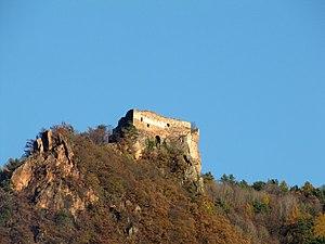 Greifenstein castle ruins above the Adige Valley