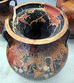 Gruppo di leagros, anfora con sequenza di cavalieri armati, 520-510 ac., 03 da necrop. del crocif. del tufo, orvieto.JPG