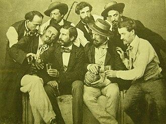 Macchiaioli - Macchiaioli at the Caffè Michelangiolo c. 1856